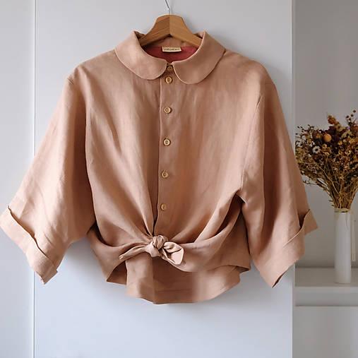 Košele - ASTRA lněná košile  - 12838930_