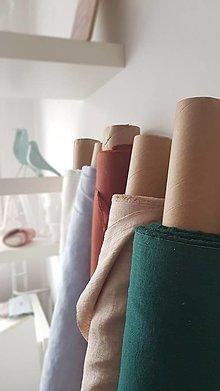 Textil - 100 % ľan predpraný, mäkčený prémiový európsky ľan - cena za 0,5m - 12836285_