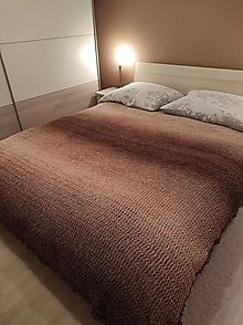 Úžitkový textil - deka-prehoz  230x220 hnedá - 12843314_