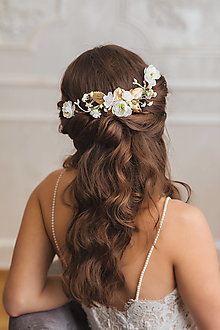 """Ozdoby do vlasov - Kvetinová aplikácia """"vznešené spovede"""" - 12840318_"""