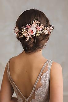 """Ozdoby do vlasov - Kvetinová aplikácia """"najkrajšia myšlienka"""" - 12840406_"""