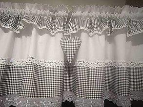 Úžitkový textil - Chalupárska záclonka - 12842181_