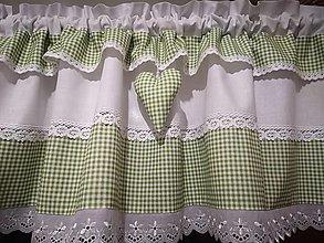 Úžitkový textil - Chalupárska záclonka - 12842212_
