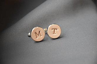Šperky - Kožené manžetové gombíky No.95 - 12841988_