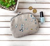 Peňaženky - Peňaženka XL Bodky v modrej - 12840596_