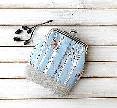 Peňaženky - Peňaženka Vtáčiky na brezách - M - 12840443_
