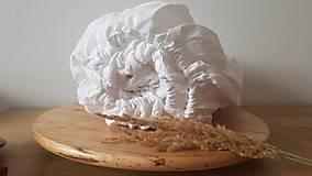 Úžitkový textil - Ľanová plachta so všitou gumičkou (napínacia) - 12842486_