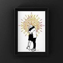 Grafika - Print-Láska, ktorá žiari - 12840439_