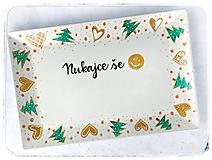 Nádoby - Vianočná tácka - perníčky  - 12843920_