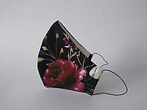 Rúška - VÝPREDAJ dámske dizajnové rúško prémiová bavlna antibakteriálne s časticami striebra dvojvrstvové tvarované - 12843948_