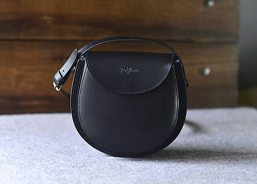Kabelky - Kožená kabelka Gisele - čierna - 12844120_