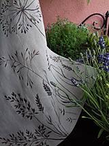 """Úžitkový textil - Ľanový, ručne maľovaný vankúš """" Suché steblá tráv """" (Suché steblá 40 x 40) - 12844421_"""