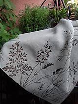 """Úžitkový textil - Ľanový, ručne maľovaný vankúš """" Suché steblá tráv """" (Suché steblá 40 x 40) - 12844422_"""