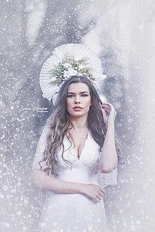 Ozdoby do vlasov - Koruna Snehová barónka - 12847227_