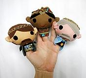 Hračky - Sada maňušiek na prst - Traja králi - 12844716_
