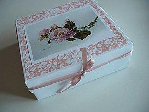 Krabičky - darčeková krabička - ruže - 12845963_