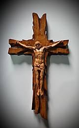 Dekorácie - Drevorezba Kríž  (400 x 220 x 25 mm) - 12844533_