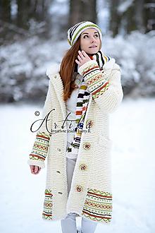 Kabáty - kabát Salome + bonus -set šál s čiapkou !!! - 12847533_