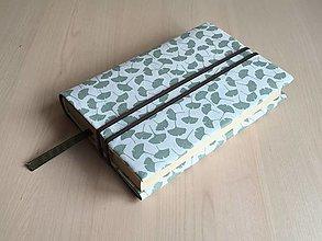 Papiernictvo - Obal na knihu - Ginko lístok zelený - 12848065_