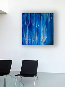 "Obrazy - ""Blue rain"" - 12845225_"