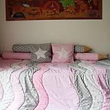 Úžitkový textil - Ružovo-šedá izbička  (objednávka pre Lenku) - 12847242_
