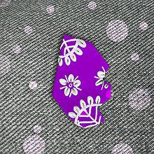 Brošne - Dekorovaná črepina zimná (brošňa) - ľadové kvety - 12846987_