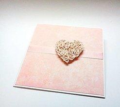 Papiernictvo - Pohľadnica ... srdce na dlani II - 12851222_