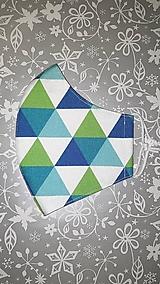 Rúška - Pánske rúško Geometria s antibakteriálnou bavlnou - 12851232_