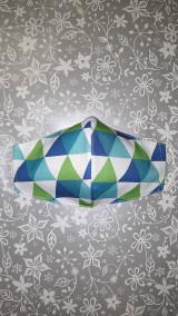 Rúška - Pánske rúško Geometria s antibakteriálnou bavlnou - 12851235_