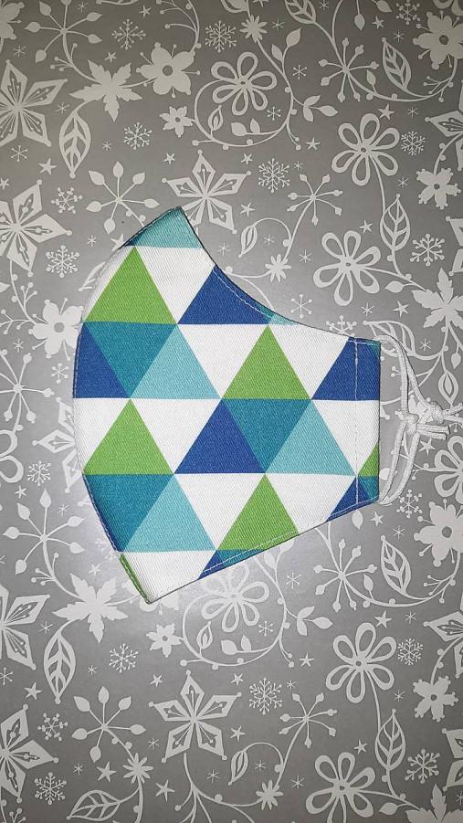 Pánske rúško Geometria s antibakteriálnou bavlnou