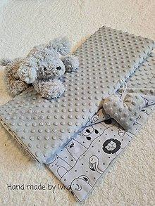 Textil - Mäkučká deka  -  minky/100% bavlna - 12849018_