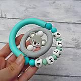 Hračky - Silikónová točivá hryzačka s menom dieťaťa (Koala) - 12849667_