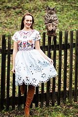 Šaty - modré madeirové šaty Sága krásy - 12848877_