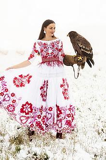 Šaty - biele vyšívané šaty Sága krásy - 12848896_