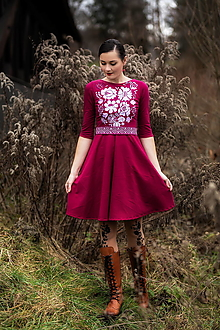 Šaty - úpletové šaty Poľana - 12848926_