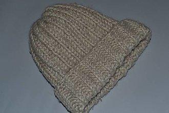 Čiapky - Pletená čiapka dámska - 12848760_