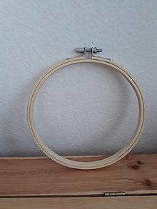 Polotovary - Bambusový kruh na vyšívanie (16cm) - 12851288_