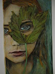 Obrazy - Malá lesná víla - 12851402_