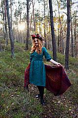 - RONJA lněné zavinovací šaty - 12849935_