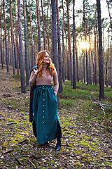 - LILL - lněná sukně - dlouhá verze - 12850025_