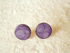 Náušnice - Náušnice z polyméru, fialové - 12850254_