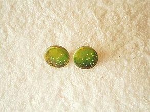 Náušnice - Náušnice z polyméru, zelené - 12850378_
