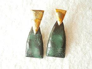 Náušnice - Náušnice z polyméru, asymetrické - 12850432_
