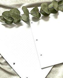 Papiernictvo - Náplne do A5 diára/karisbloku - čisté a bullet journal strany - 12853325_