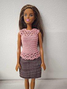 Hračky - Sukňa a top pre bábiku - 12854904_