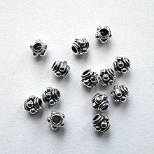 Korálky - Kovové korálky 3mm-1ks - 12855347_