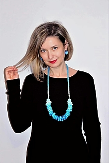 """Náhrdelníky - náhrdelník """"aqua"""" - 12852723_"""