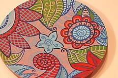 Nádoby - Drevený hlboký tanier /misa/ HIPPIE - 12854205_