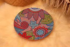 Nádoby - Drevený hlboký tanier /misa/ HIPPIE - 12854248_