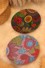 Nádoby - Drevený hlboký tanier /misa/ HIPPIE - 12854256_